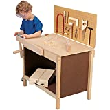 CP Toys Child-size Workbench with 15 pc. Real Tools Set and Safety Goggles