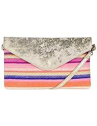 Massimo Italiano Women's Leather Small Sling Bag (Golden) - B013T317UQ