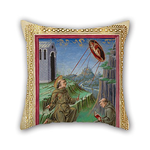 Elegancebeauty 16 X 16 Inches / 40 By 40 Cm Oil Painting Taddeo Crivelli (Italian, Died About 1479, Active About 1451 - 1479) - The Stigmatization Of Saint Francis Pillow Shams,each Side Is Fit For