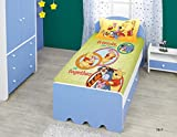 Bombay Dyeing Disney Classic Single Bedsheet with 1 Pillow Cover - Green and Orange