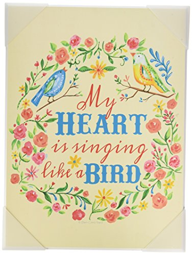 The Kids Room by Stupell My Heart is Singing Like a Bird Floral Graphic Art Wall Plaque