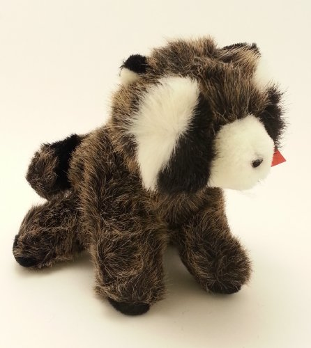 Stuffed Animal, Plush Racoon, Grey/black By Russ
