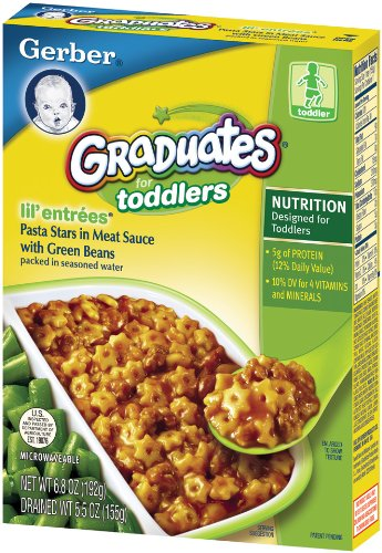 Gerber Graduates Lil' Entrees, Pasta Stars in Meat Sauce, 5.5-Ounce Boxes (Pack of 12) (Lil Graduates Entrees compare prices)
