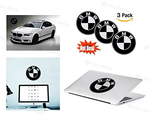 BMW Logo Stickers Decal - Set of 3 Decals - High Resolution, Superior Finish and Transparent Background - Ideal for Car, Motorcycle, Laptop, Macbook, iMac, Windows and Wall Art (Bmw E34 Cold Air Intake compare prices)