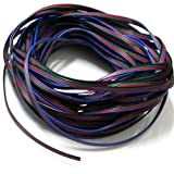 4 Color 10m RGB Extension Cable Line for LED Strip RGB 5050 3528 Cord 4pin
