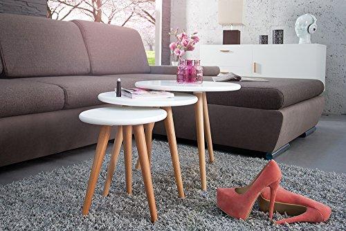 3er-Set-Beistelltische-SCANIA-MEISTERSTCK-Retro-Design-wei-rund-Buche