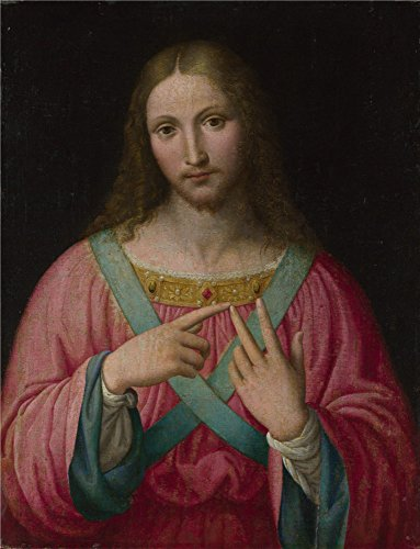 Oil Painting 'After Bernardino Luini Christ ' Printing On Perfect Effect Canvas , 24 X 31 Inch / 61 X 80 Cm ,the Best Study Decor And Home Gallery Art And Gifts Is This Reproductions Art Decorative Prints On Canvas
