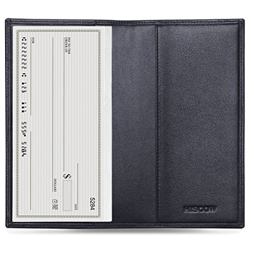 HISCOW Classy Bifold Standard Checkbook Cover Black - Italian Calfskin (Transaction Register Holder compare prices)