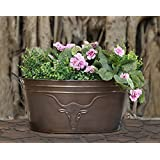 Decorative Metal Planter Stand With Bull Design For Outdoor Indoor Gardening Decor Accessories