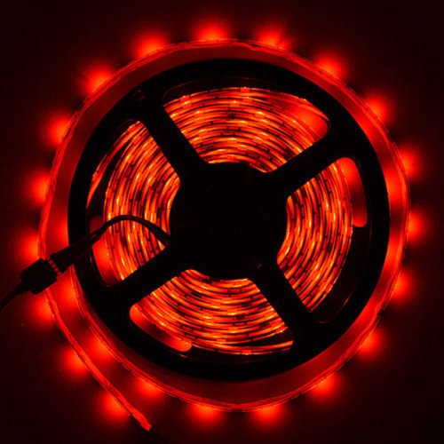 Happy Hours® Super Bright Red 1-30M 3528 Smd 120 Leds/M Led Strips Light Non-Waterproof + 12V Dc Power Adapter 15 Meters