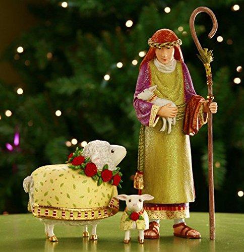 """Nativity Shepherd Ewe & Lamb"""