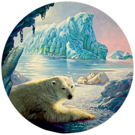 "Cheap SunsOut Polar Bear Glacier 1000pc Round Jigsaw Puzzle by D.L. ""Rusty"" RUST (B001DOP5TS)"