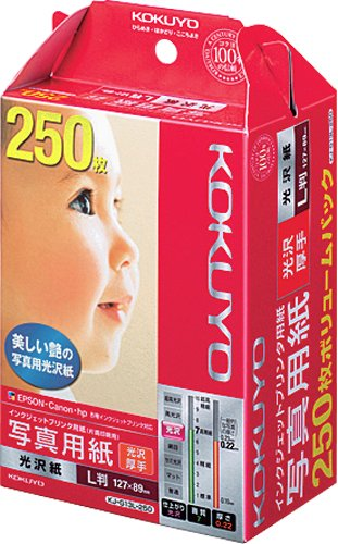 Kokuyo co., Ltd. L medium-format photo paper glossy paper 250 sheet KJ-G 13L-250