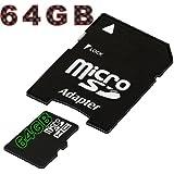tomaxx 64GB / 64 GB micro SDXC Speicherkarte f�r Samsung Galaxy S5, Samsung Galaxy S4 Active (i9295), Samsung Galaxy S5 Mini (SM-G800) Class 10 inkl. SD Card Adapter