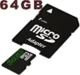 Tomaxx Micro SDHC Memory Card, 64 GB, for Samsung Galaxy Note 4, Sony Xperia Z3, Sony Xperia Z3 Compact, Archos 101 XS 2, Toshiba AT300SE-101, Lenovo Yoga Tablet 10 and 8, Archos GamePad 2, HP Omni 10 Class 10 with SD Card Adapter