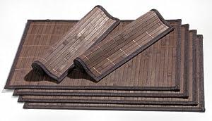 Ritzenhoff & Breker Bamboo / 357998 Ensemble de sets de table Marron foncé 6 pièces