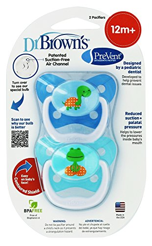 Dr. Brown's PreVent Butterfly Pacifiers - Blue (12+ Months) - 1