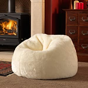 icon large bean bag classic luxury faux fur bean bags. Black Bedroom Furniture Sets. Home Design Ideas