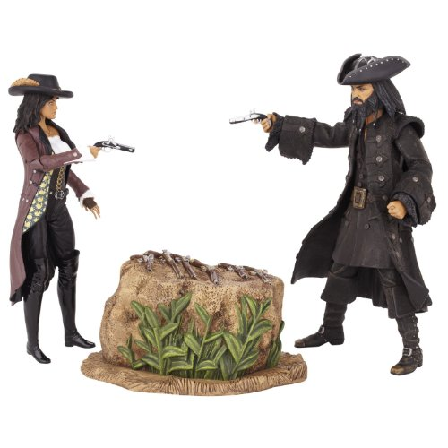 """Pirates Of The Caribbean 6"""" Classic Movie Moments Wave #1 Blackbeard And Angelica In Jungle"""
