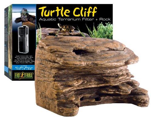 Exo Terra Turtle Cliff Aquatic Terrarium Filter/Rock, Large Animals ...