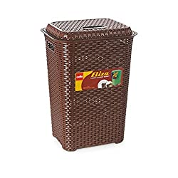 Cello Eliza  Polypropylene Laundry Basket - Chocolate Brown
