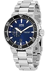 Oris Aquis Small Second Date Mens Watch 743-7673-4135MB