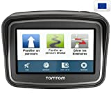 TOMTOM Rider Europe 45 Premium Pack (1GD0.002.01) - Lifetime maps - GPS + Universal GPS Mount + Metal Grey Case for GPS units with 4.3