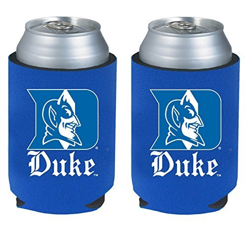 NCAA College 2014 Team Logo Color Can Kaddy Holder Cooler 2-Pack (Duke Blue Devils) (Blue Devils 2014 compare prices)