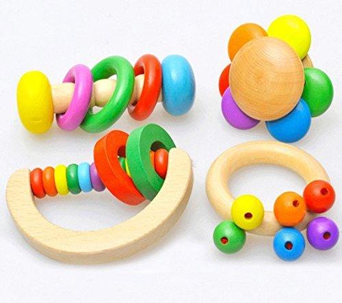 holz-baby-rattert-4-pack-classic-musikerziehung-und-beissring-grasping-aktivitat-spielzeug