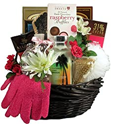 Gift Basket Village Mulberry Lane, Spa and Chocolates Gift Basket for Her by Gift Basket Village