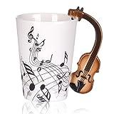 Liebe Musik Violine Noten Muster Freiheit Stil Keramiktasse Cup für Kaffee Tee Milch mit Handle-Geschenk
