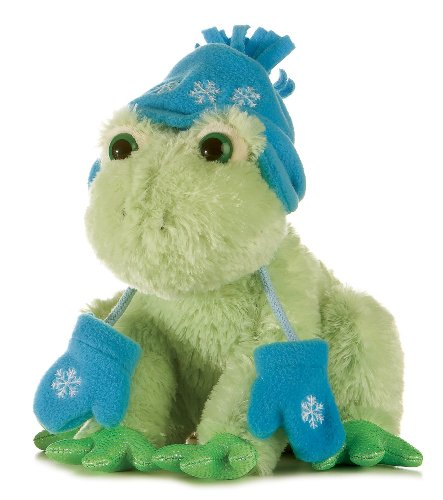 "Aurora Plsuh 10"" Frog with Mittens Fancy Pals"