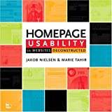 Homepage Usability : 50 Websites Deconstructed (073571102X) by Jakob Nielsen