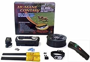 High Tech Pet Humane Contain HC-8000 Electronic Dog Fence Ultra System and PT-2 Pro Trainer Plus Sonic Cat & Dog Trainer Combo