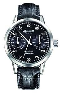 Ingersoll - Reloj de caballero automático, correa de piel color negro
