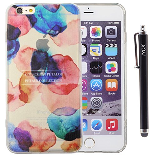 iPhone 6 Case, iPhone 6S Case, iYCK Hybrid TPU Bumper + Hard Back Panel Seamless Integrated Shock-Absorbing Protective Shell Case Cover for Apple iPhone 6 / 6S 4.7 inch Screen - Watercolor Floral