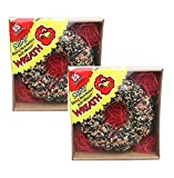 C & S Mini Seed and High Energy Suet Wreaths - 2 PACK