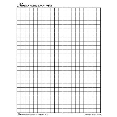Nasco 100 Sheet Graph Paper 1cm Squares 11 X 8 1 2
