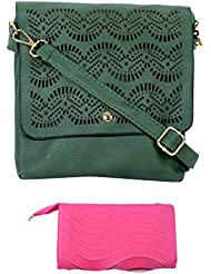 SRI Imported Fancy Designer Combo Of Handbag With Clutch For Girls And Women - B01JZ44020