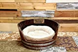 Personalized Wine Barrel Dog Bed