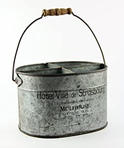 French Country Inspired Decorative Tin Caddy