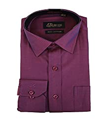 La MODE Self Maroon Formal Shirt(LA01526_B58297-36)