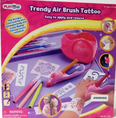 Trendy Air Brush Tattoo By Playgo Toys