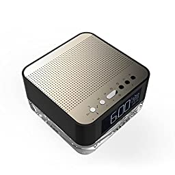 Moniko MP3 Mini Digital Portable Music Player Micro SD FM Radio Wireless Speark (Black)