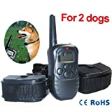 Dog Training Collar With 1 Remote Control And 2 Dog Shock Collars For Home & Garden