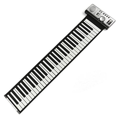 Leaning-Tech-porttil-61-teclas-Roll-up-Piano-USB-MIDI-electrnica-Soft-de-teclado-mano-Rolles-Roll-Piano-Plata-DC-6-V