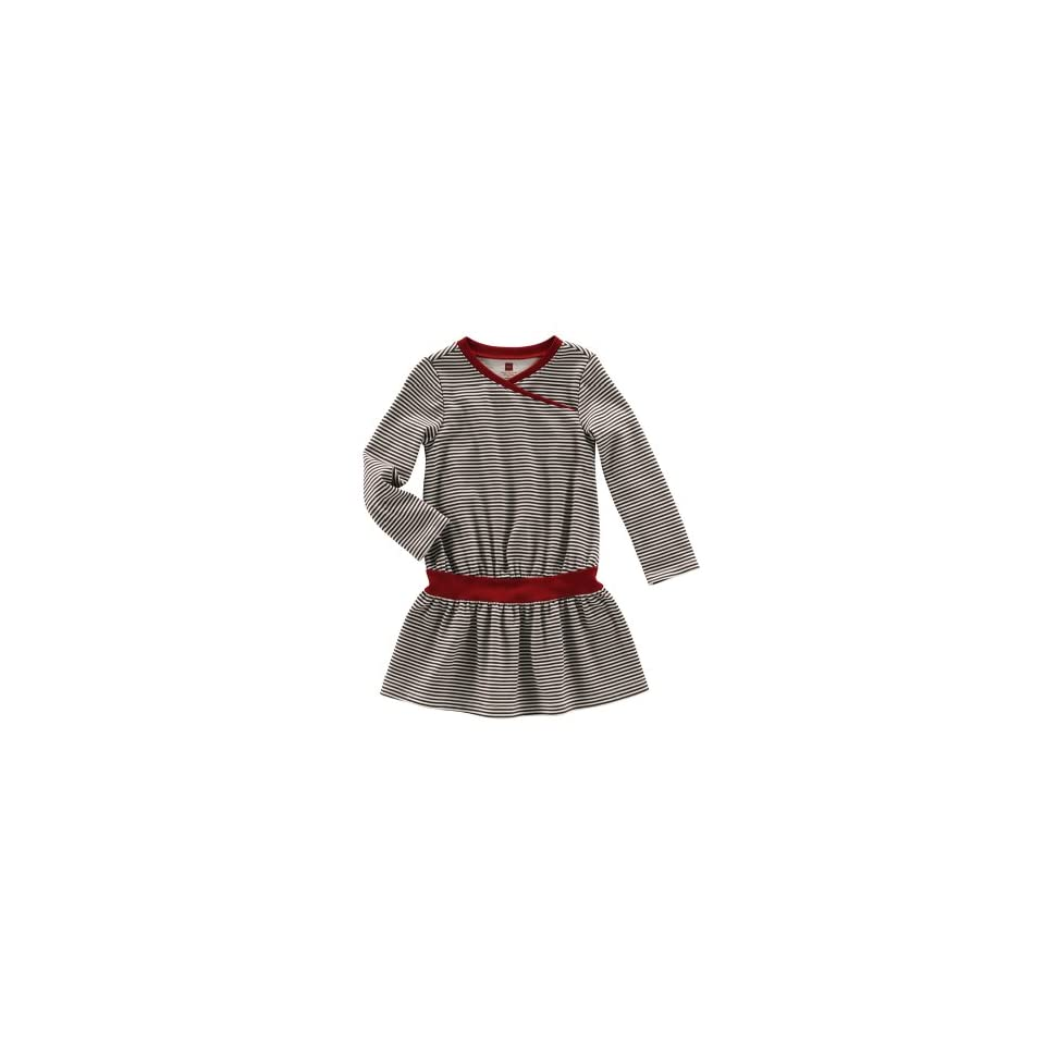 Tea Collection Baby Striped Long Sleeve Dress, Walnut 6 12 Months