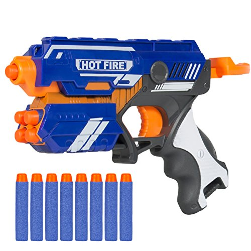 Best Choice Products Foam Bullet Blaster Toy Hand Gun, Long Distance Shooing Range, 10 Darts Included (Guns With Rubber Bullets compare prices)