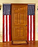 Set of 2 Patriotic American Flag Door Flags - Banners, Perfect for July 4 & Memorial Day!
