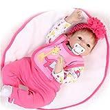 Fachel Reborn doll mu�eca realista de silicona mu�eca bebe dollsvinyl beb�s reci�n nacidos 22inch 55cm como en la vida real Baby Doll mu�eca Reborn chupete
